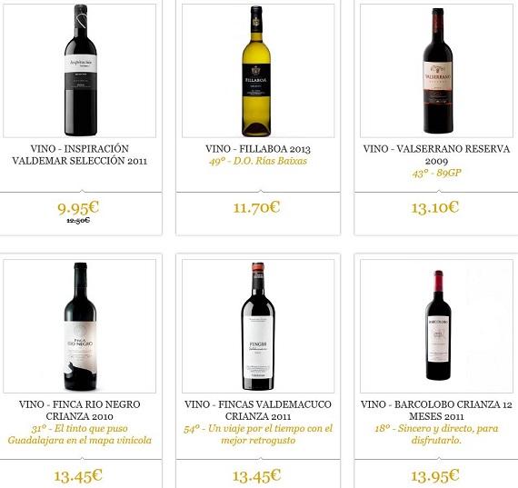 outlet vinos ofertas