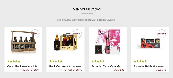 ventas privadas delicatessen