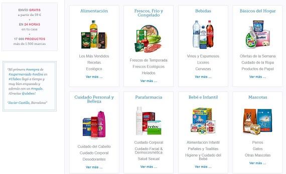 Supermercados online Barcelona