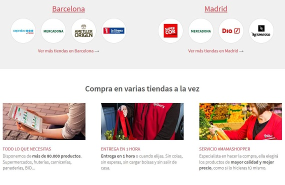 Supermercados online Madrid