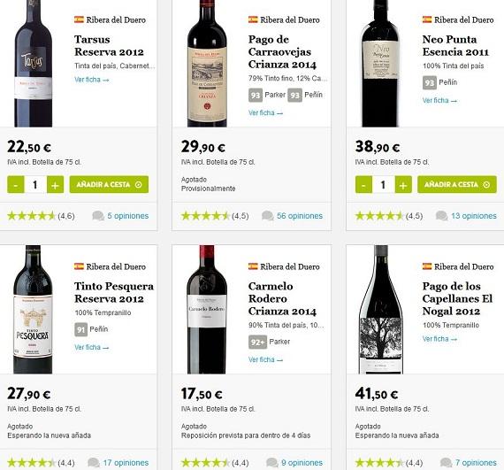 regalar vinos ribera del duero
