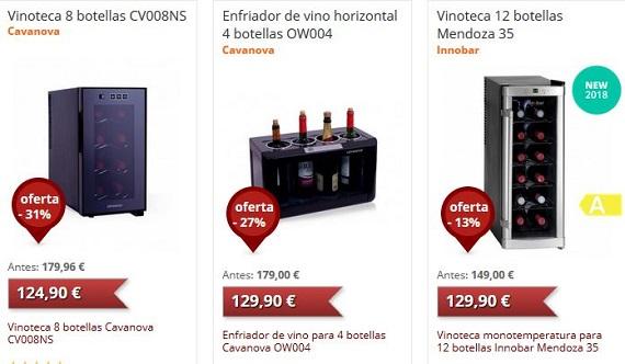 neveras para vinos ofertas y rebajas