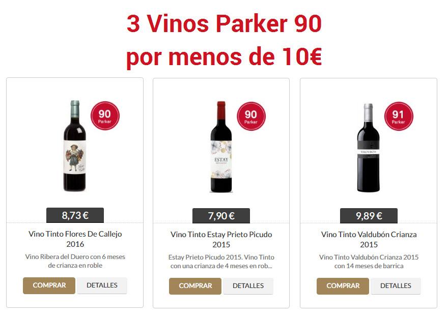 vinos tintos con 90 puntos parker