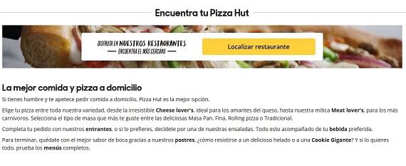 pizza hut opiniones
